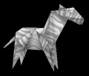 Un zèbre en origami